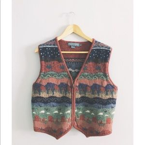 Jackets & Blazers - Knit Cactus Desert Red Rocks Vest